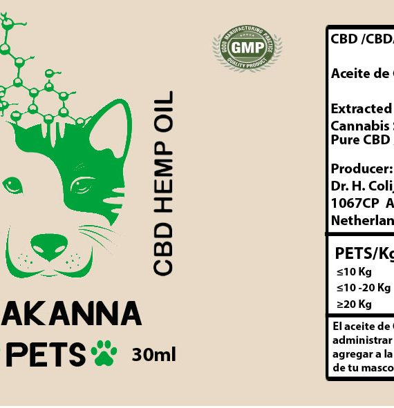 Label Chakanna PETS 30ml